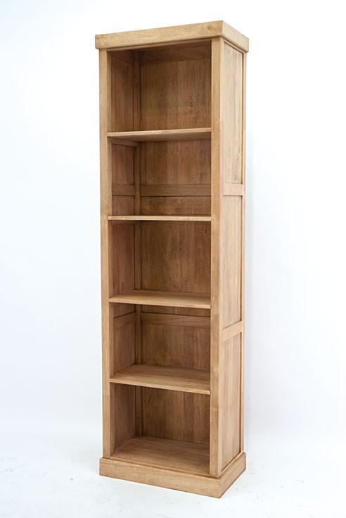 colonne bibliotheque bois hevea massif h200cm tradition