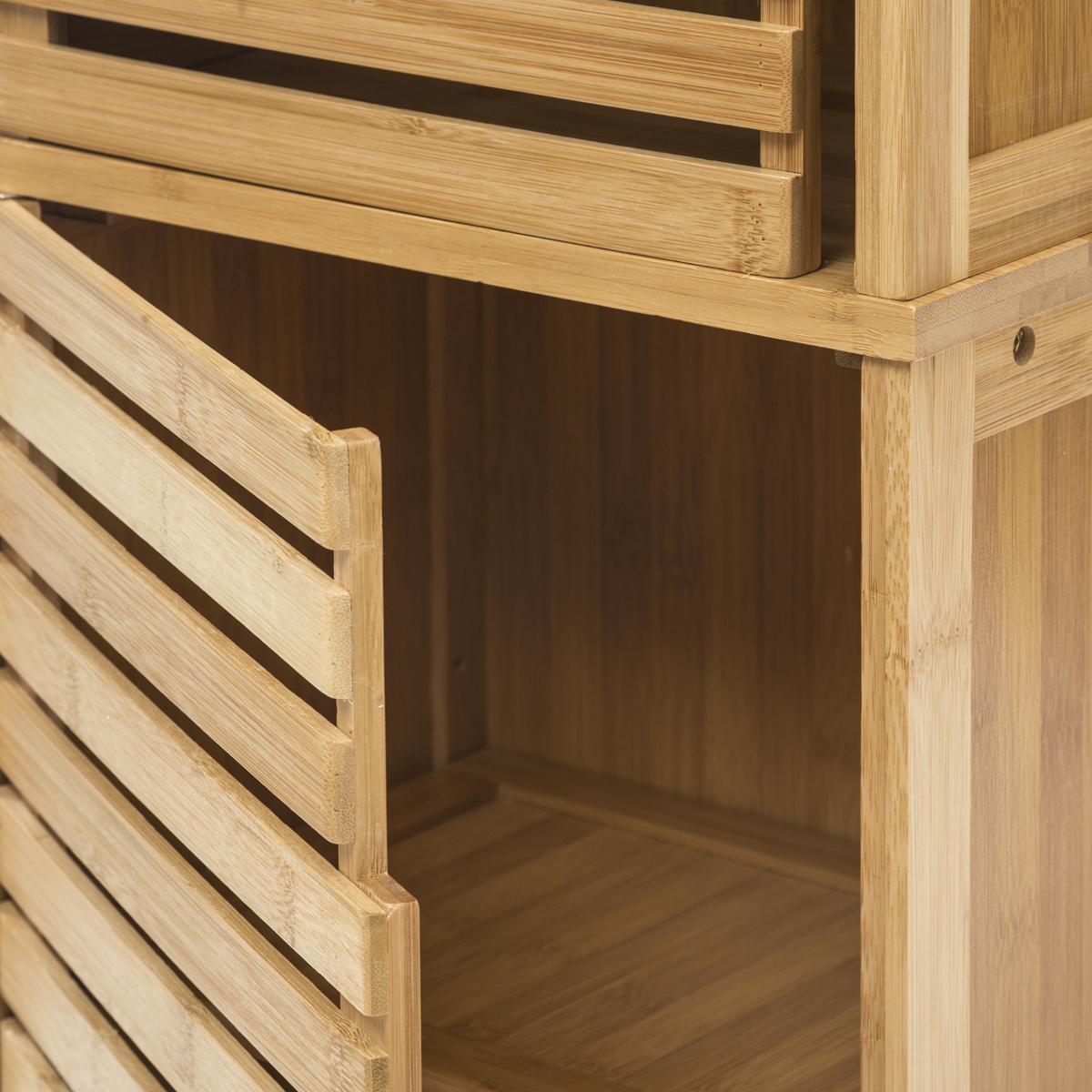 colonne salle de bains en bambou 170cm