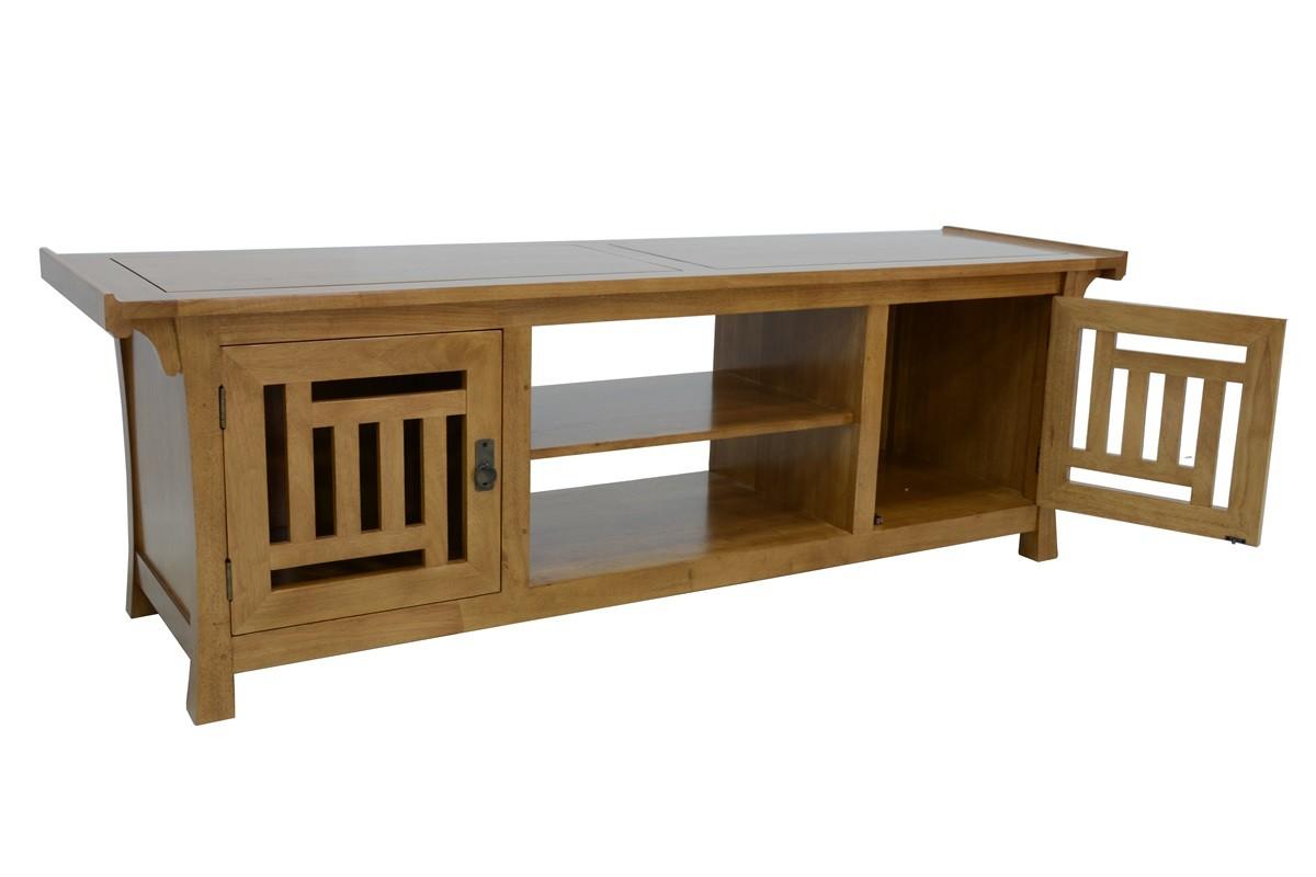 meuble tv asiatique japonais hevea 180cm maori