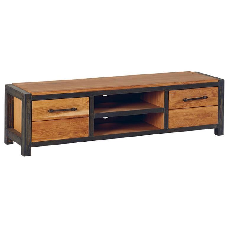 meuble tv bois metal ferscott
