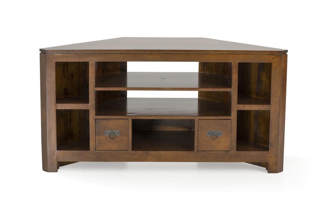 meuble tv d angle bois massif helena