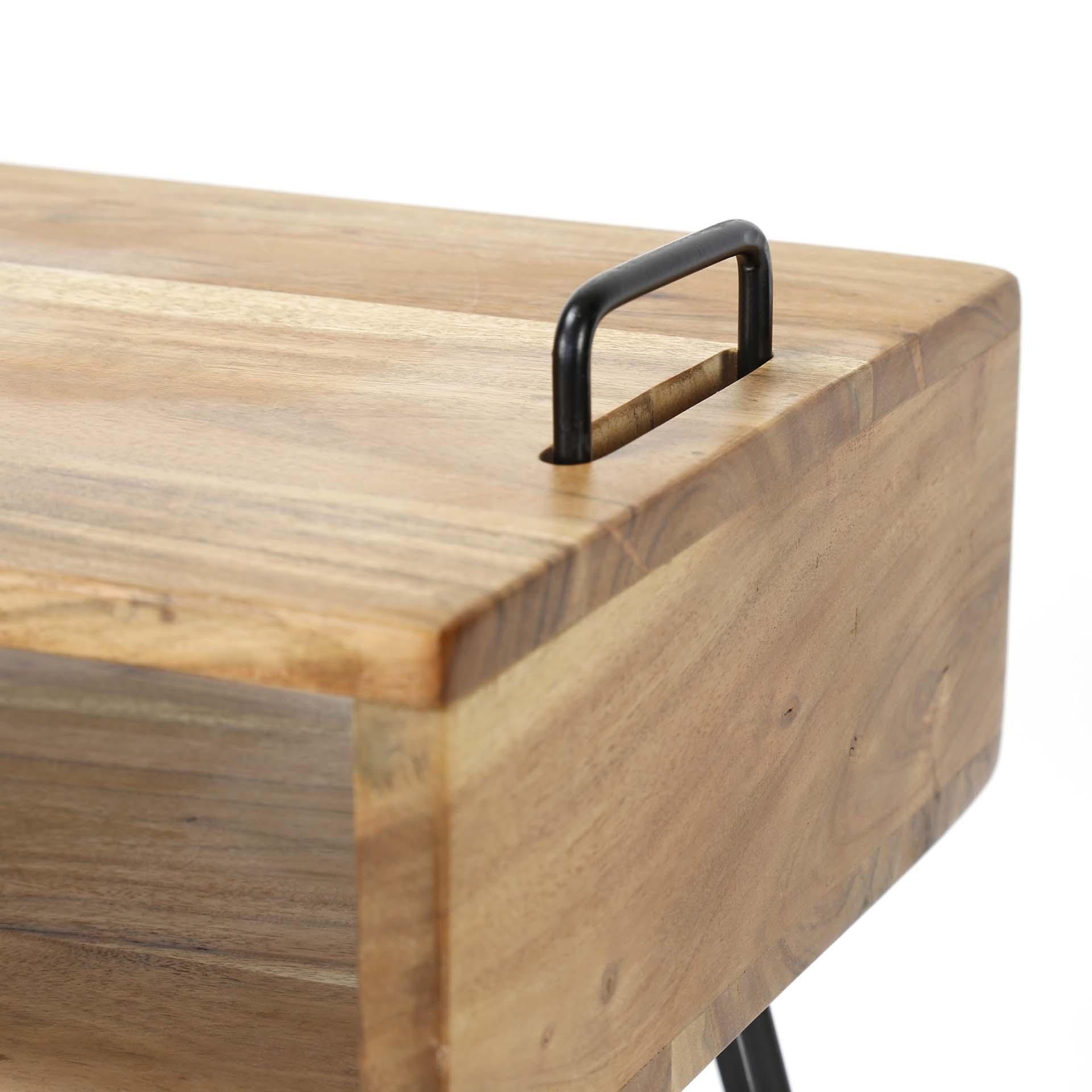 meuble tv scandinave bois massif 110 cm melbourne