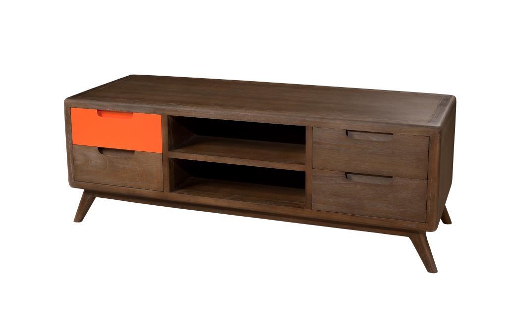 meuble tv vintage bois exotique lucien