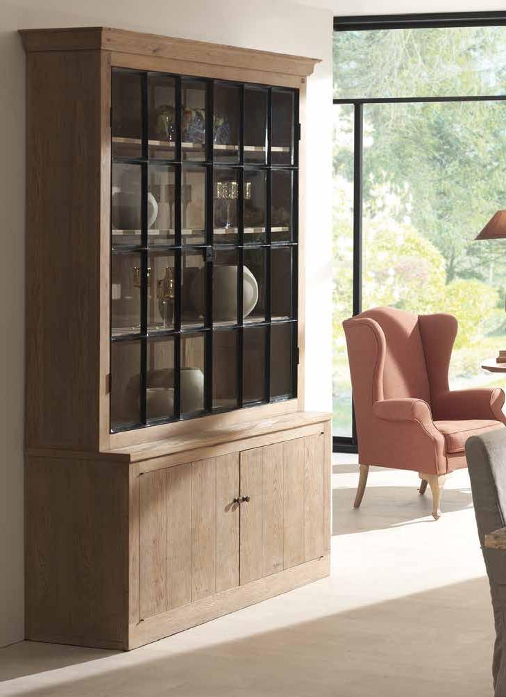 meuble vitrine bois massif aline