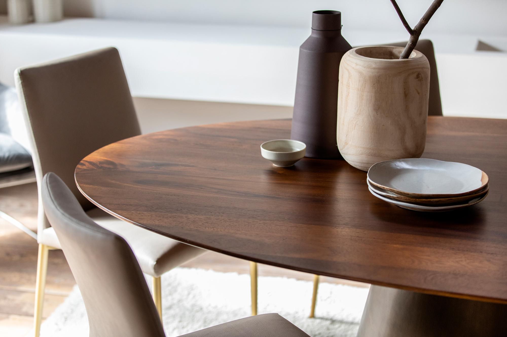 table a manger ronde bois de manguier 152 5 cm feni