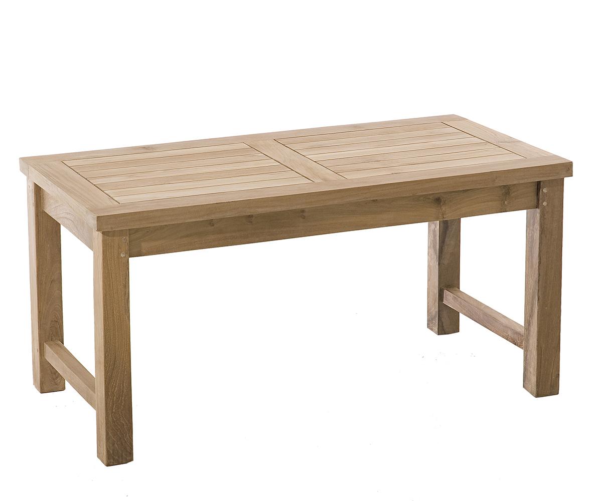 table basse de jardin en teck brut massif 90cm summer