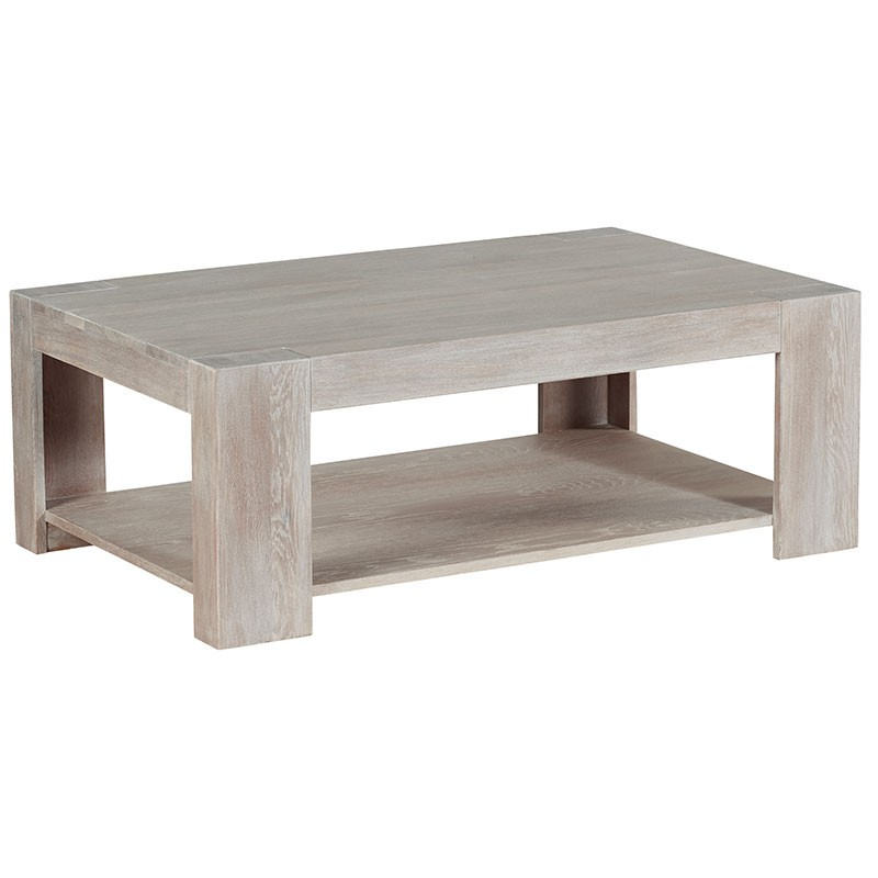table basse rectangulaire chene blanchi 110cm chicsea