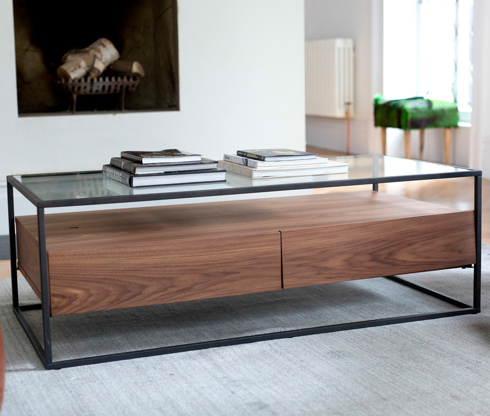 table basse verre et bois toronto