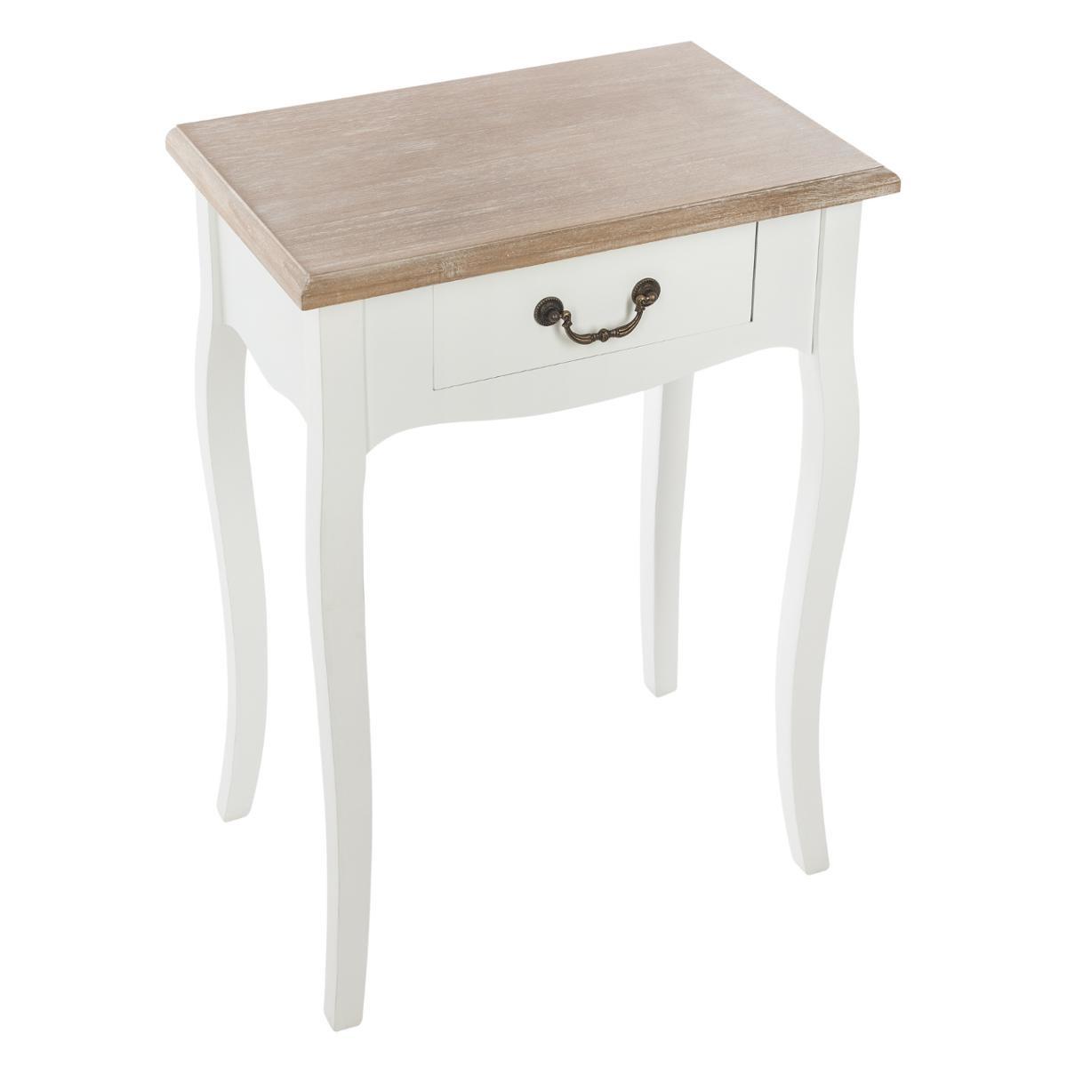 table de chevet en bois blanc budapest