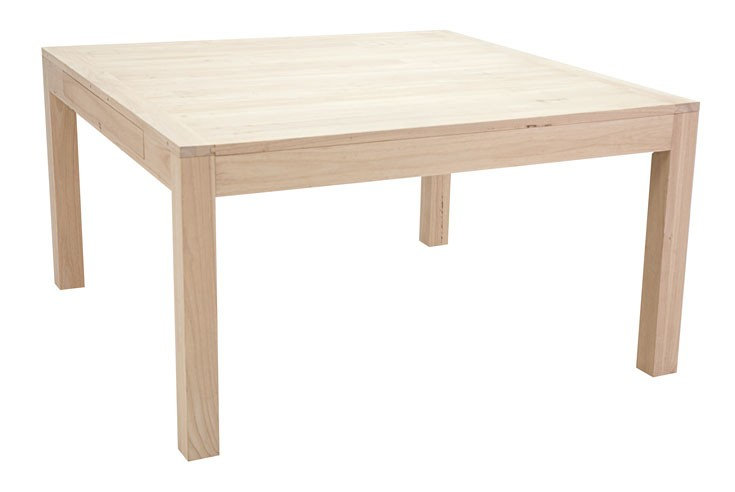 table repas carree extensible hevea 140 240cm olga