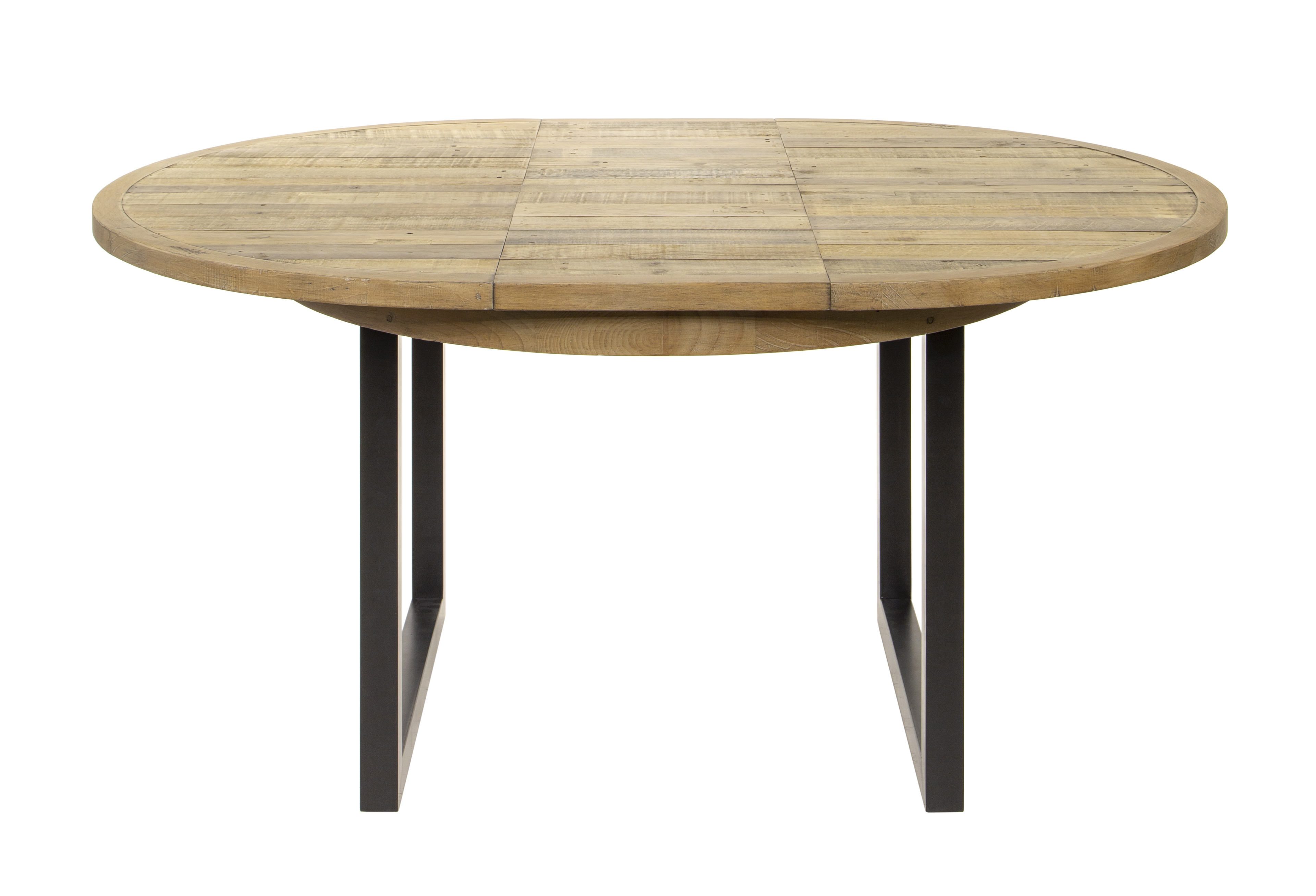 table ronde extensible en bois recycle d 120 160 cm brisbane tables a manger pier import