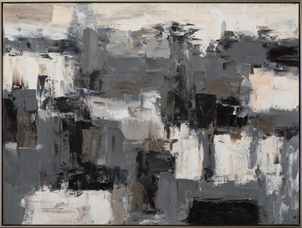 Tableau Abstrait Noir Et Blanc 92 5x122 5cm Tableaux Toiles Pier Import