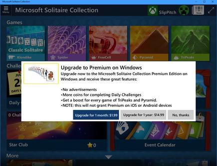 Para ser justos, matar a Solitaire sería el golpe mortal para las esperanzas de los consumidores de Microsoft.  ¿Pero una suscripción para Solitario es tan amigable para el consumidor?