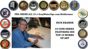 15 coin series from artist Dick Kramer and Gray Water Ops