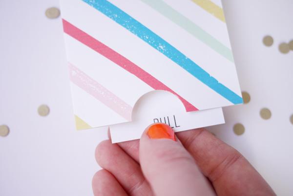 Printable Birthday Pull Card