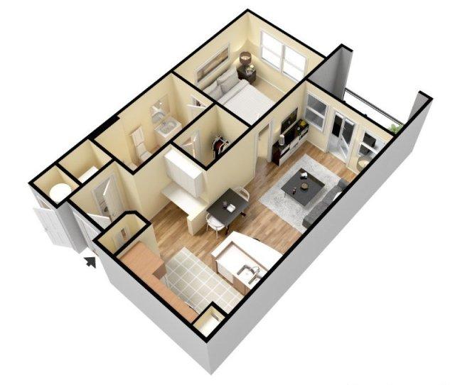 Bathroom Apartment For Rent At Domain At Waco In Waco Tx