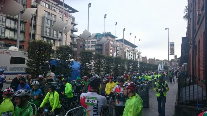 The Great Dublin Bike Ride start area