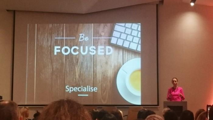 Jenny Taafe (iZest Marketing) speaking at BloggerConf 2015