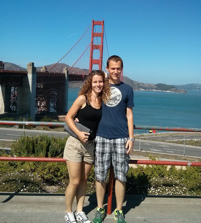 Golden Gate, San Francisco as one of the stops on our USA road trip