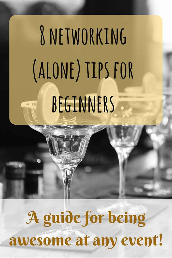 Networking isn't easy when you're just starting out, and especially when you need to do it alone. Here are some awesome tips! • LadyofAwesome.com