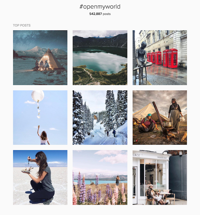 Instagram destination inspiration #openmyworld