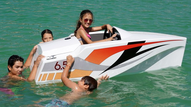 JimBoats 6.5 Mini Electric Boat for Kids and Adults