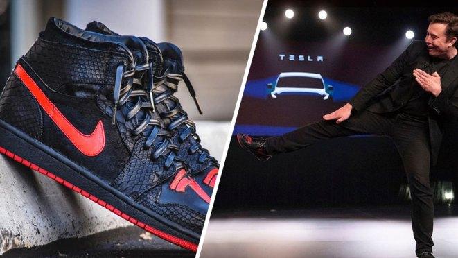 Tesla Jordan 1 Sneakers For Elon Musk