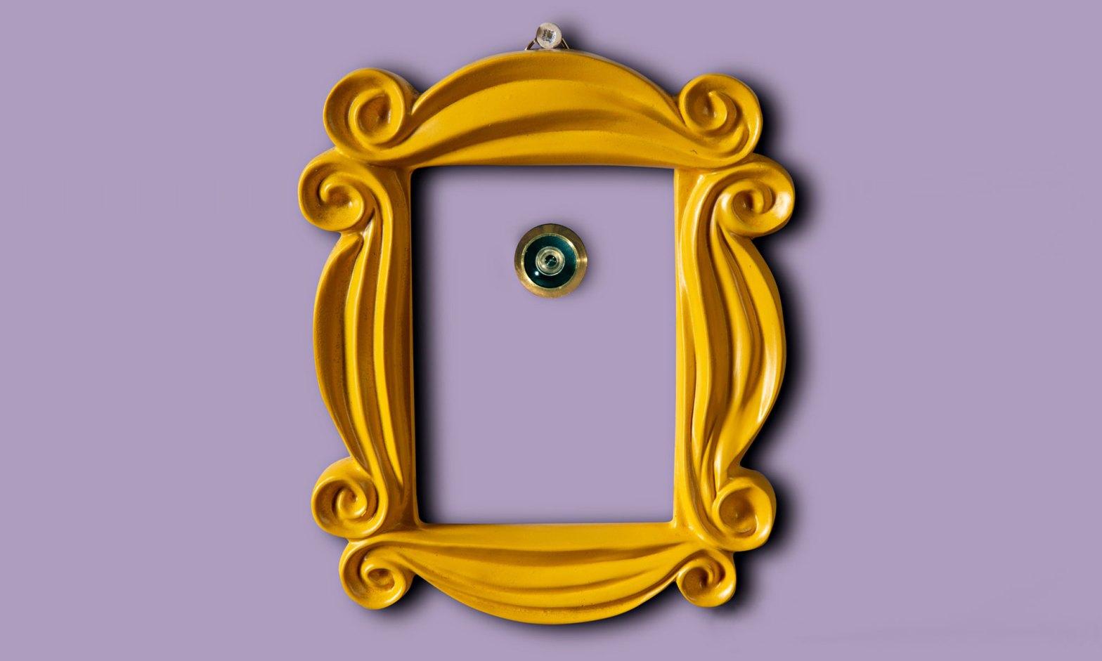 Friends Yellow Peephole Photo Frame