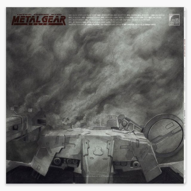 Metal Gear Solid Poster and Vinyl SDCC 2019