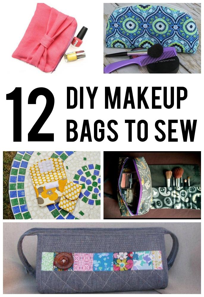 Adorable Diy Makeup Bag Patterns To Sew