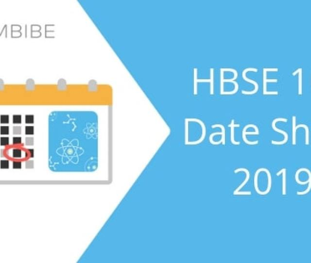 Hbse 10th Date Sheet 2019 Check Haryana Board Date Sheet Time Table Here