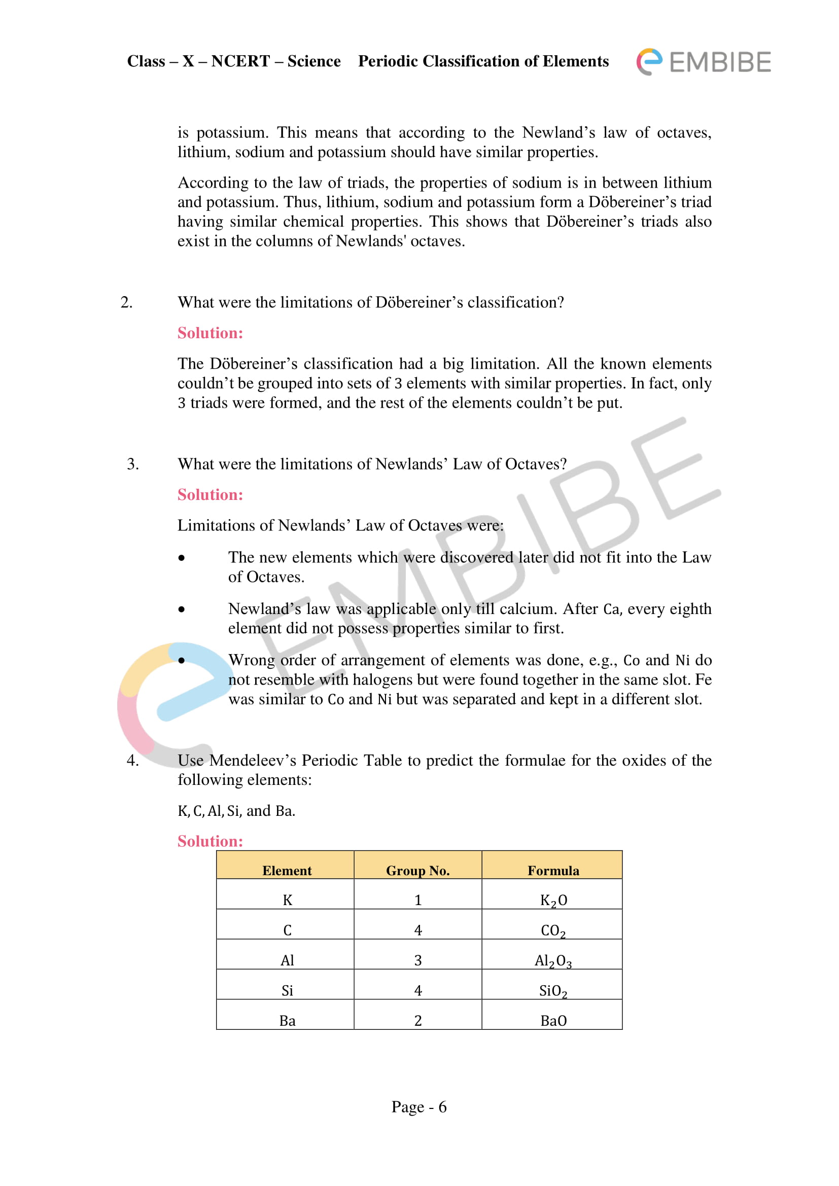 34 Section 52 The Modern Periodic Table Worksheet Answer