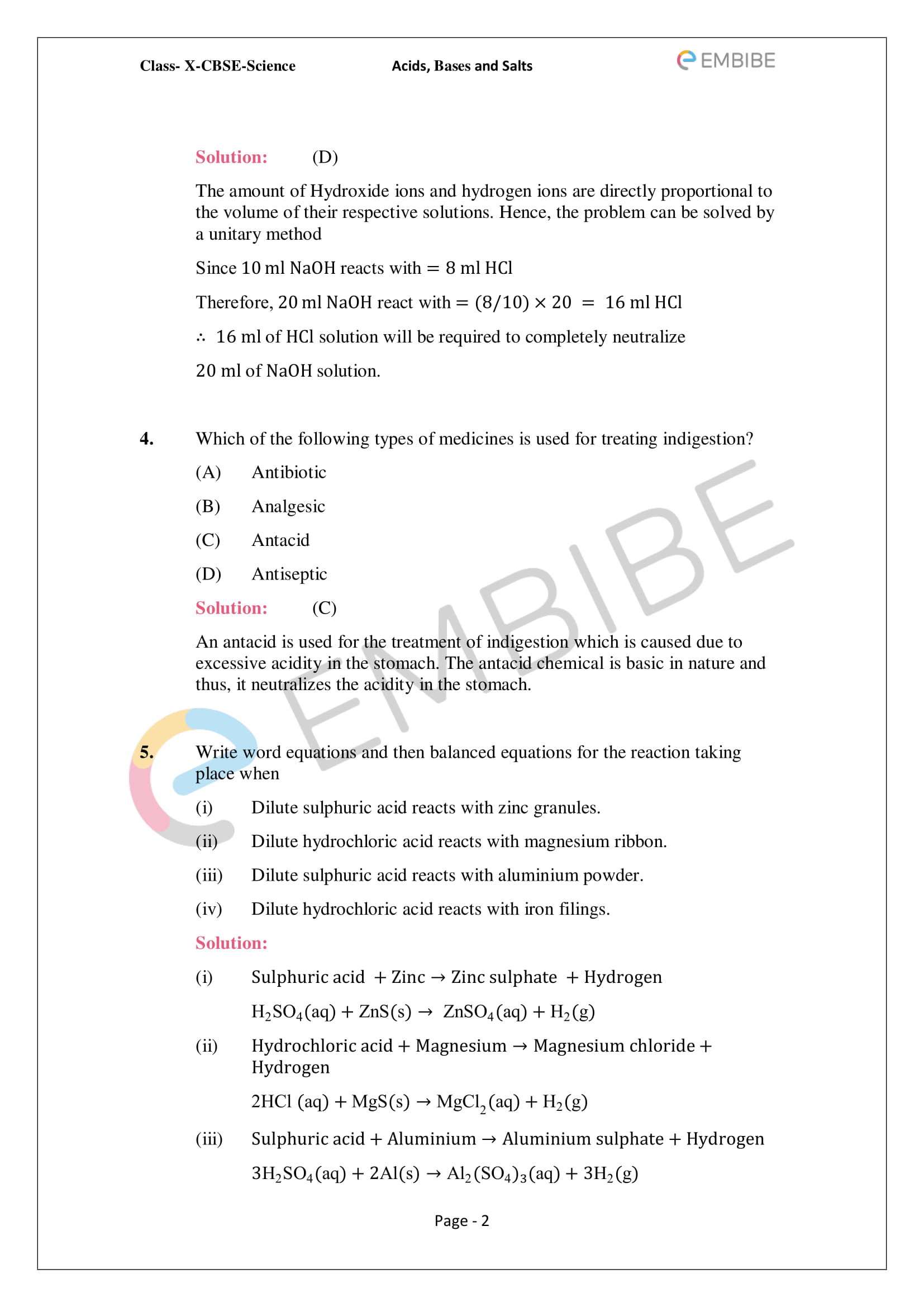 Classnotes Chemistry Notes Class 10 Ch 2