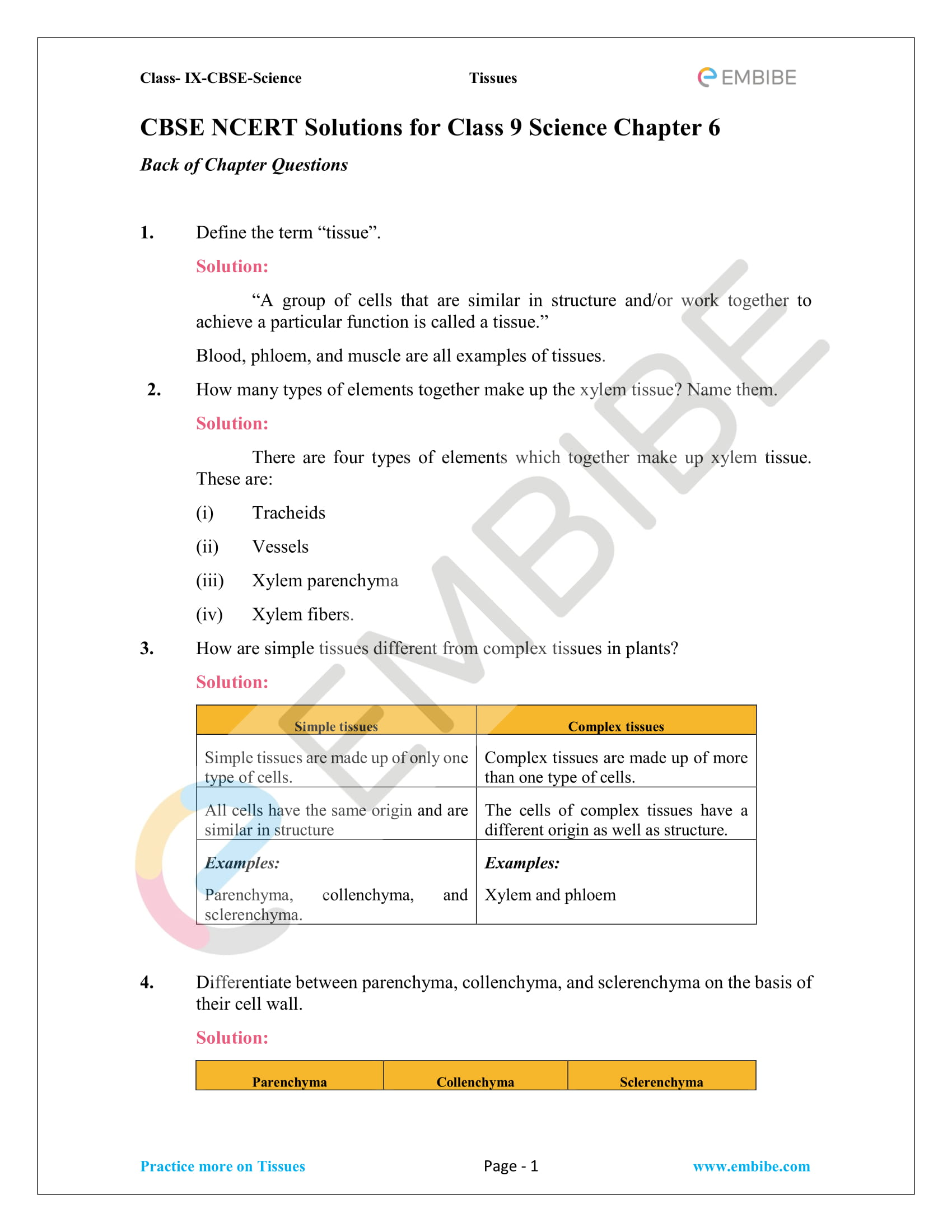 Cbse Ncert Solutions For Class 9 Science Chapter 6