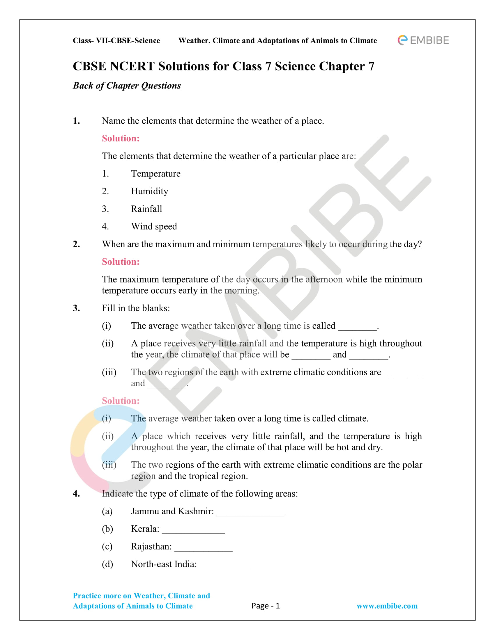Ncert Solutions For Class 7 Science Chapter 7
