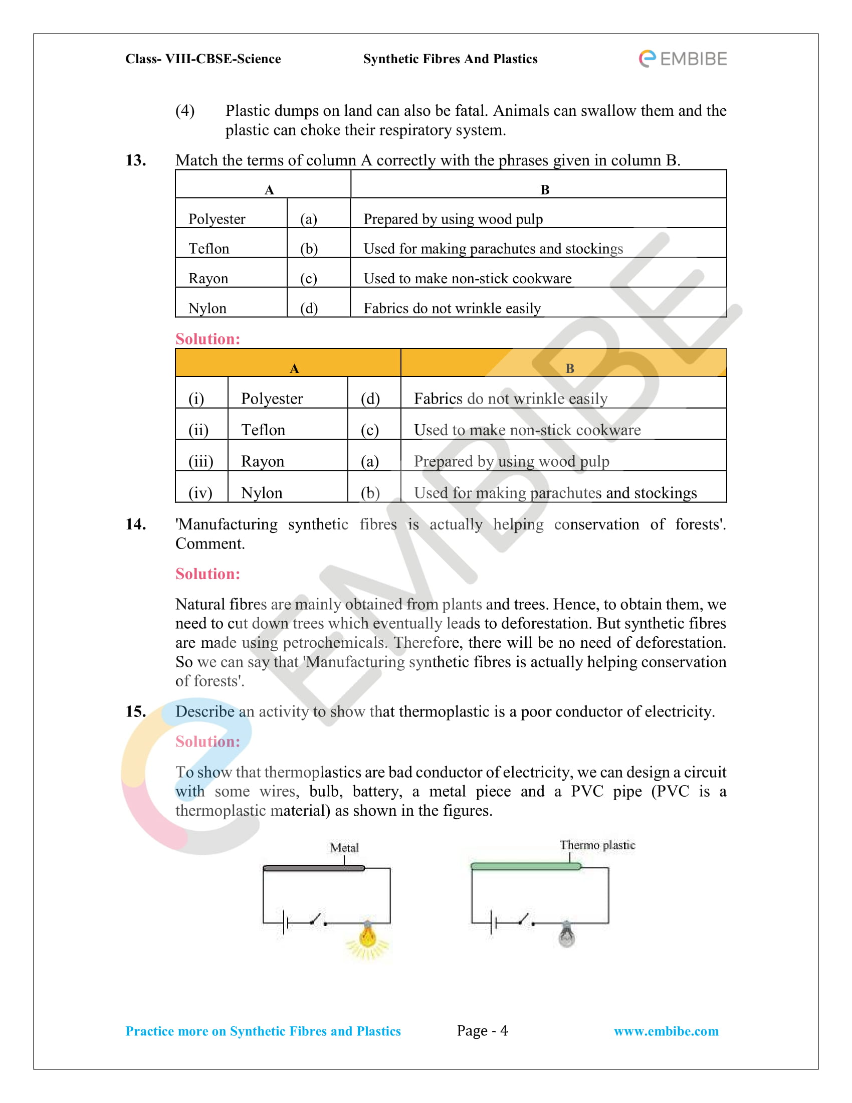 Ncert Solutions For Class 8 Science Chapter 3