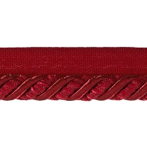 Helena 3/8'' Decorative Lip Cord Trim Berry Fabric By The Yard