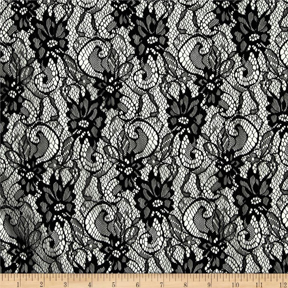 Gothic Lace Black Discount Designer Fabric