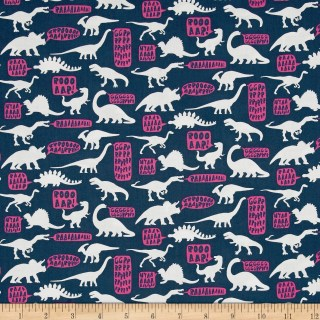Dear Stella Stellasaurus Hear Me Roar Phantom Fabric