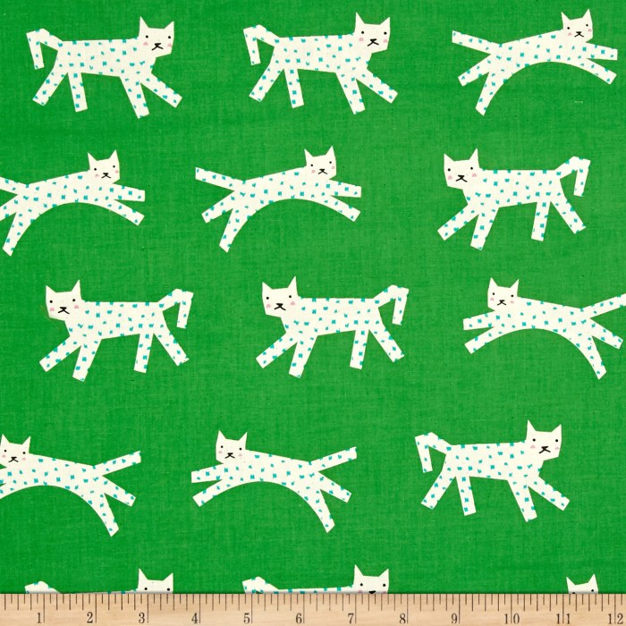Designed by Rashida Coleman-Hale for Cotton + Steel this unbleached cotton print features adorable snow leopards with polka dot spots. Perfect for quilting apparel and home decor accents. Colors include cream pink black green and turquoise.