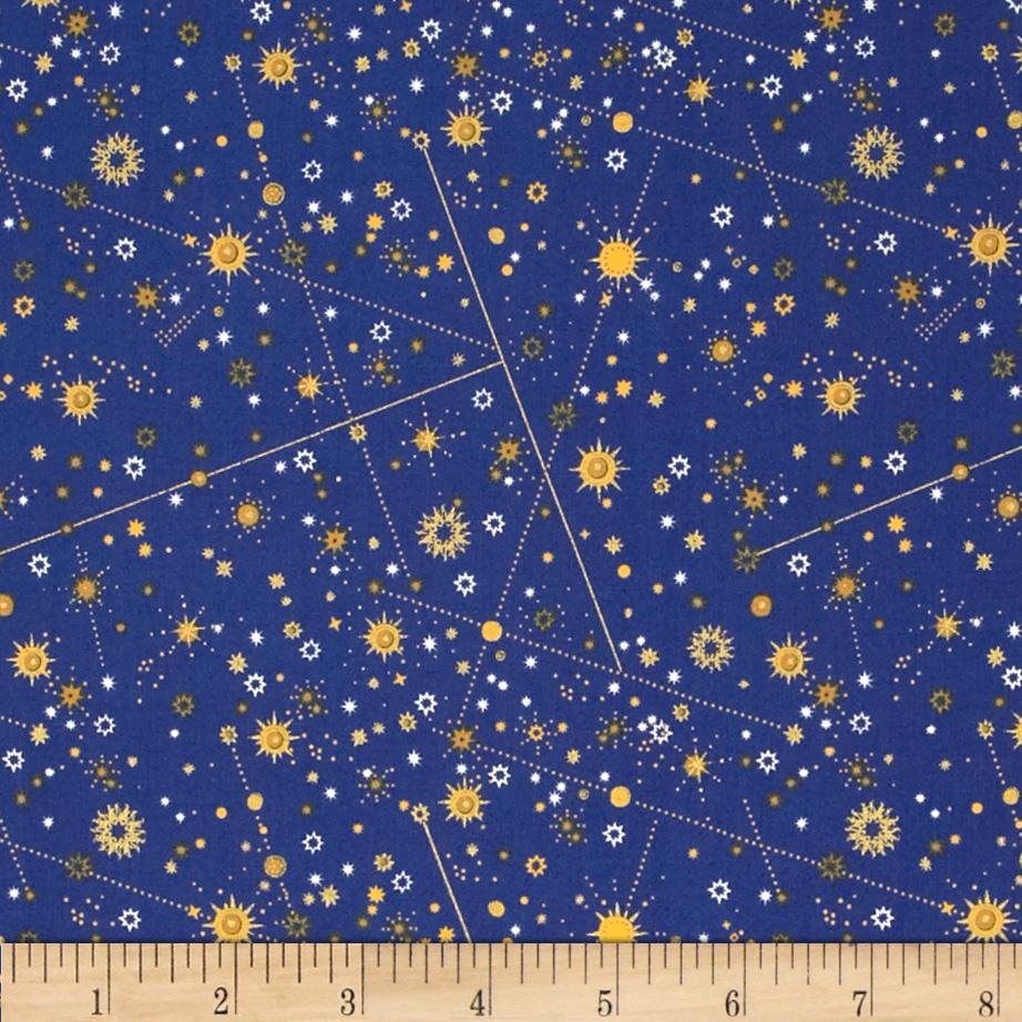 Celestial Metallic Constellations NavyGold Discount