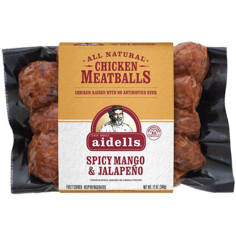aidells chicken meatballs spicy mango