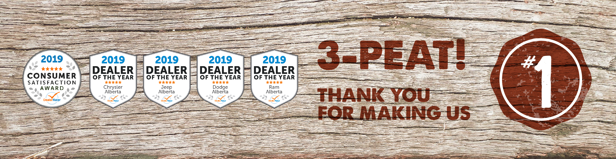 2019 DEALER OF THE YEAR & 2019 CONSUMER SATISFACTION AWARD WINNER