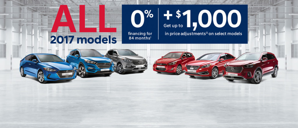 October Hyundai offer