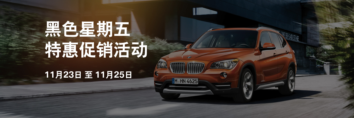 BMW Black Friday Sale Nov 2018 Chinese