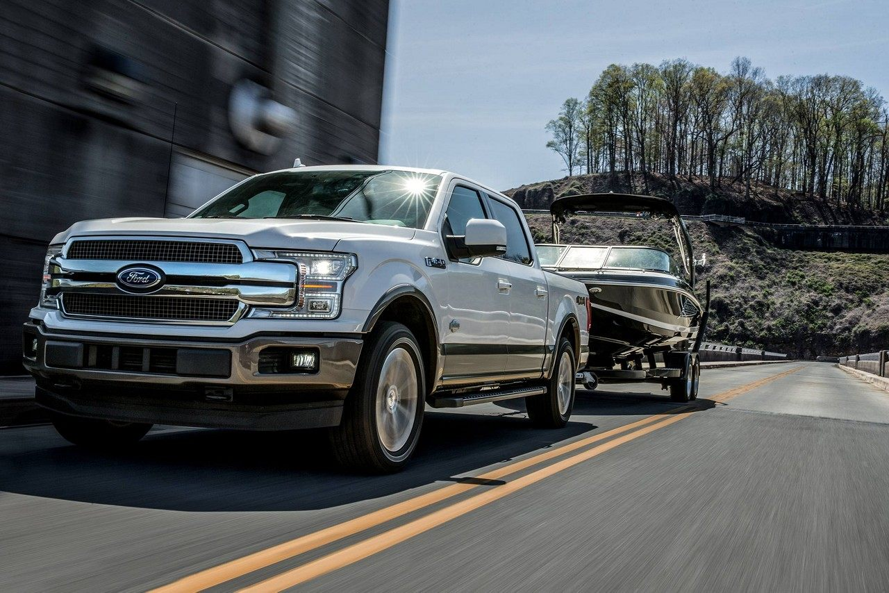 2019 ford f-150 king ranch in white platinum
