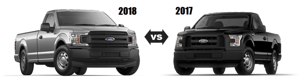 Ford F-150 2018 and 2017 Differences