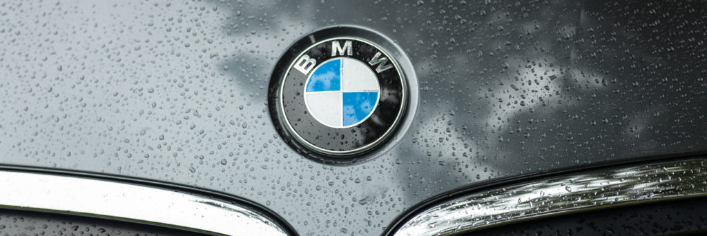 BMW logo on the hood of a car
