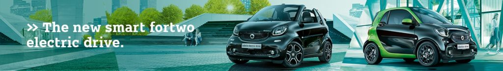 >> The new smart fortwo electric drive.