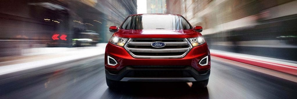 2018 Ford Edge Driving through Street